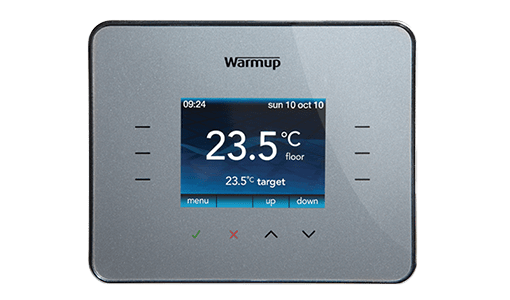 warmup 3ie programmable thermostat silver
